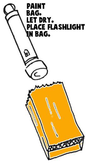 Paint the bag orange