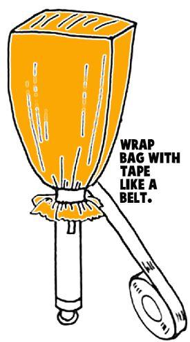Tape bag with tape like a belt