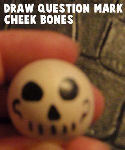 Draw question mark cheek bones