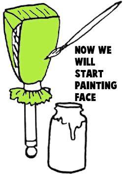 Now start painting the face