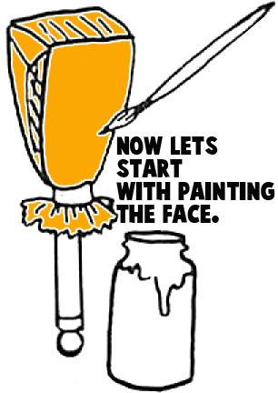 Now we will start painting the face