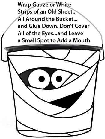 Wrap gauze or white strips of an old sheet... all around the bucket