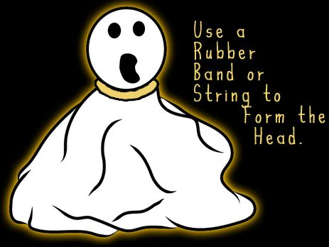 Use a rubber band or string to form the head