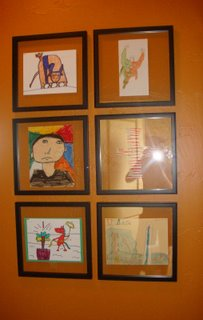 Frame Kids Artwork on a Special Wall
