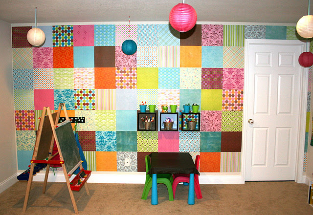 Great Idea For Decorating The Walls For Your Kids Art Or Play Room