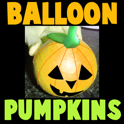 How to Make a Halloween Bean Bag Balloon Pumpkin