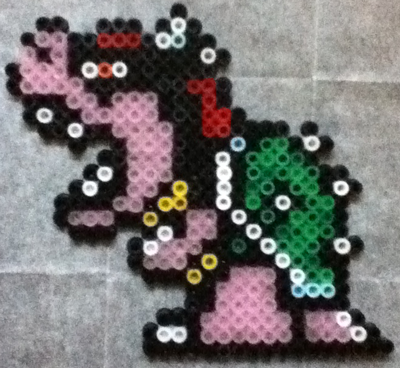 How to make a perler bead bowser from super mario bros kids finished bowser from super mario dt1010fo
