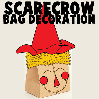 How to Make a Brown Bag Scarecrow Decoration