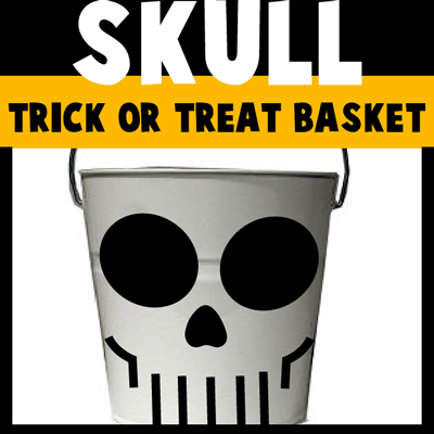 How to make a Skull Trick or Treat Basket