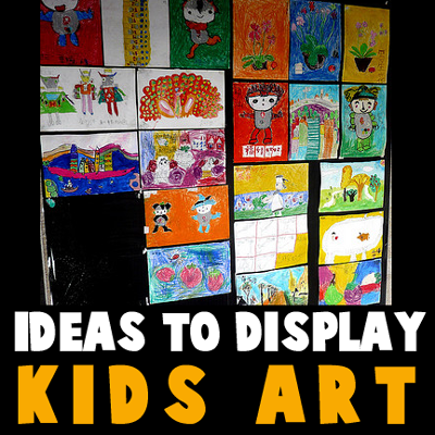 ideas for displaying your kids artwork so you can see your fridge again