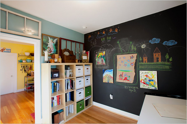 Paint a Magnetic Wall - Maybe Even Chalkboard Paint