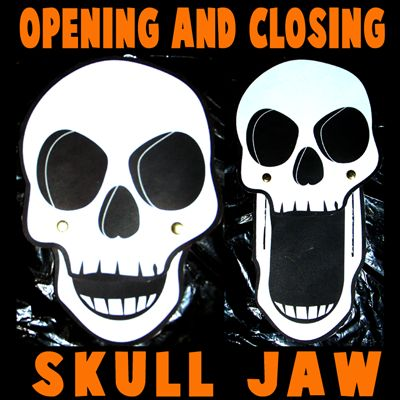 how to make opening and closing halloween skulls - Halloween Skulls