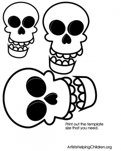 Print the template to make the skeleton's head