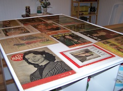 Plexiglass Table Cover to Display Artwork