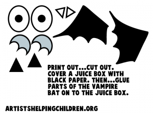 Follow the template below to make the vampire parts
