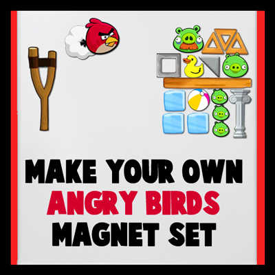 How to Make your own Angry Birds Magnet Set