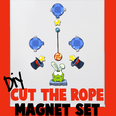 """How to Make a """"Cut the Rope"""" Magnet Set"""