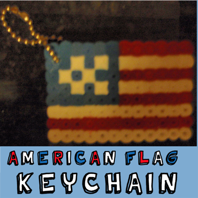 How to Make an American Flag Keychain for Veterans Day