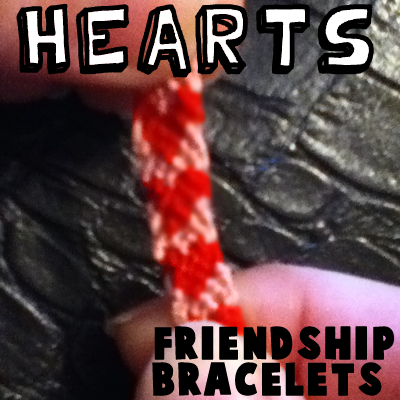 How to Make a Hearts Friendship Bracelet