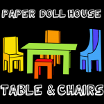 How to Make a Paper Doll House Table & Chairs