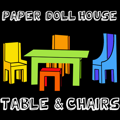 Table Furniture on Table And Chairs1 Step How To Make A Paper Doll House Table   Chairs