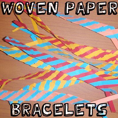 How to Make Woven Paper Bracelets