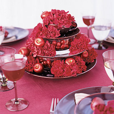 Cranberry Carnation Pyramid 