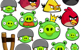Angry Birds template 3