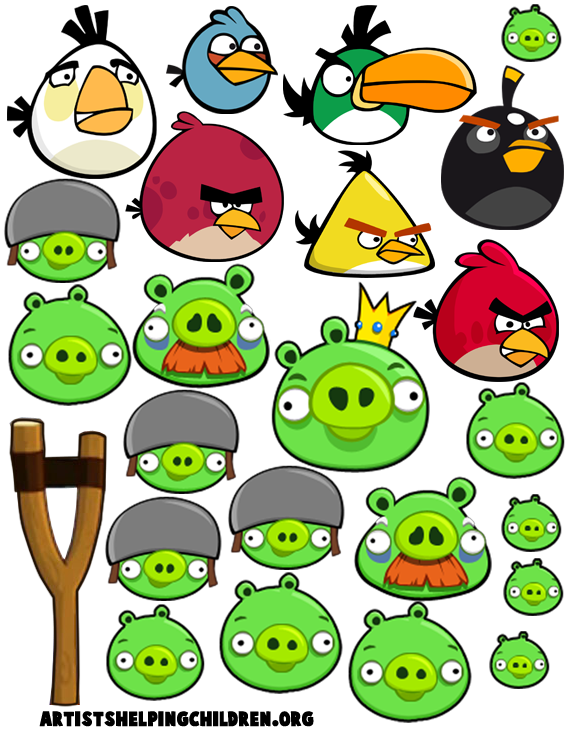How to make your own angry birds magnet set kids crafts angry birds template 3 pronofoot35fo Images