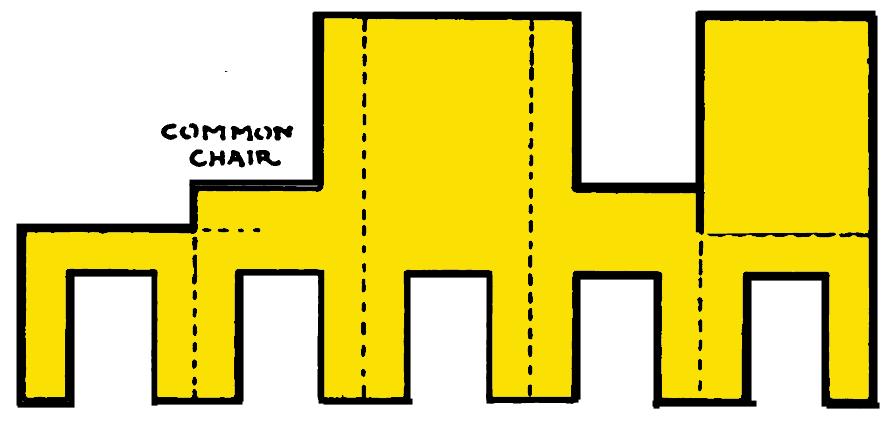 Как сделать объемный стул из бумаги - Septikblog.ru