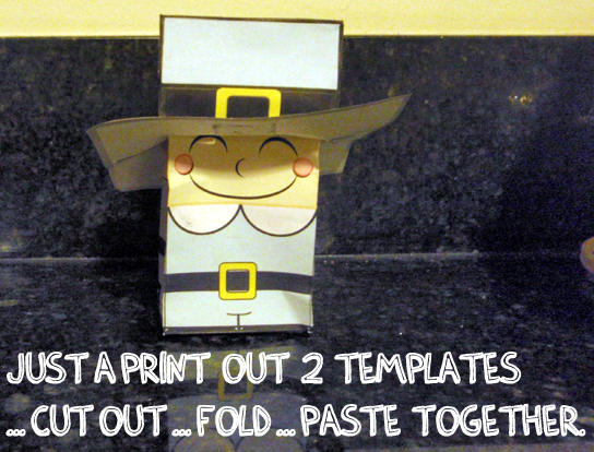 Finished Pilgrim boy paper craft