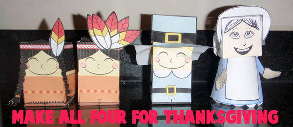 Make all 4 crafts for Thanksgiving