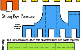 All furniture printable color template