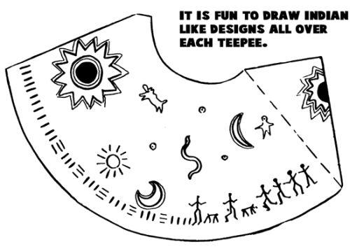 Teepee template for Teepee craft template