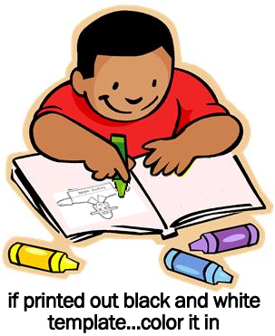 If you printed out the black and white template.... color it in.