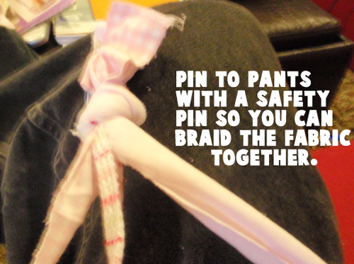 Pin to your pants with a safety pin