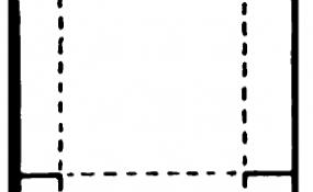 Stool printable black & white template