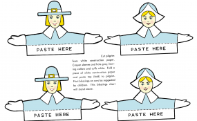 Printable color template for Thanksgiving place cards