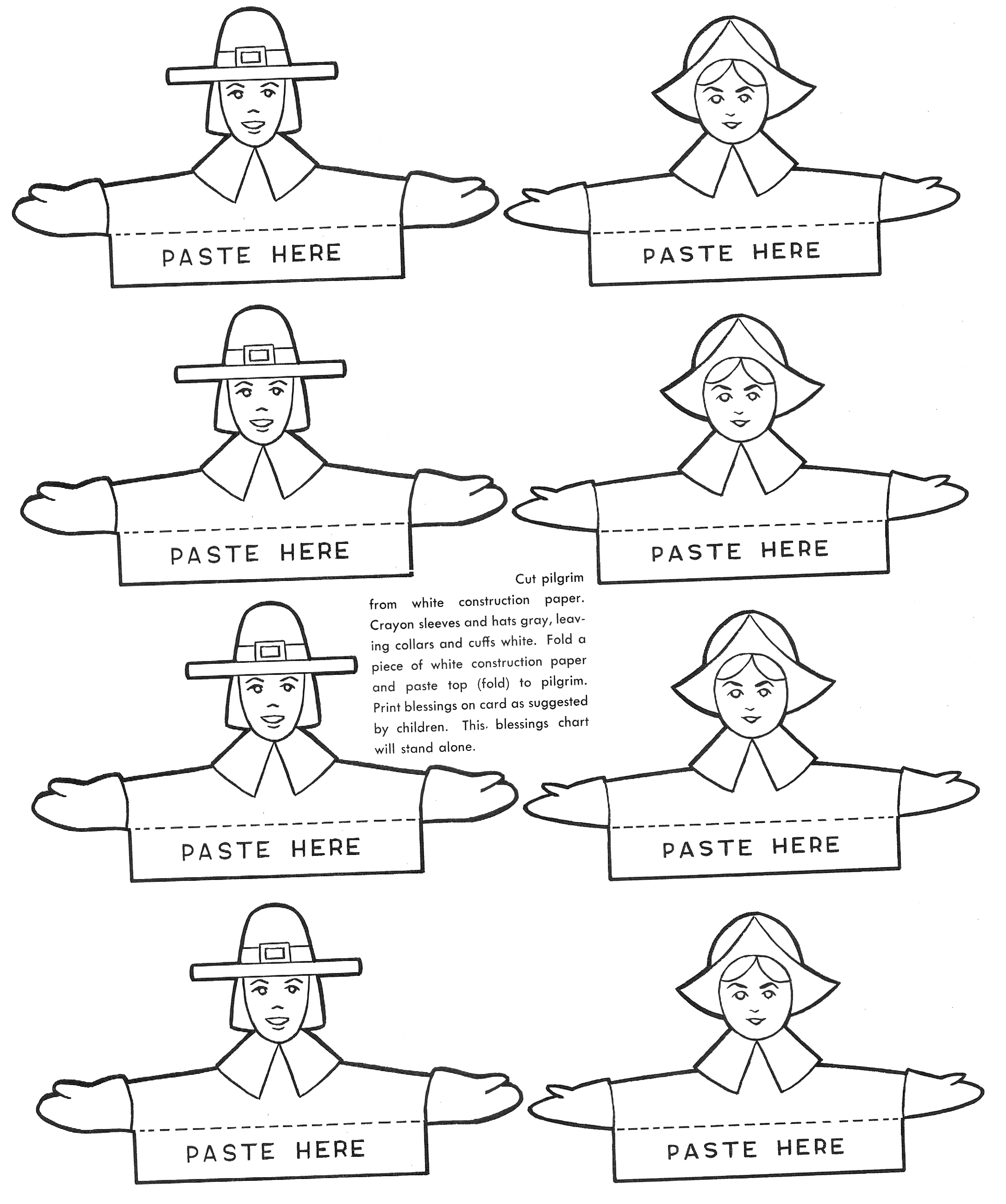 How to make thanksgiving place cards kids crafts for Thanksgiving craft templates printable