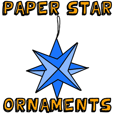 How to Make Paper Star Ornaments
