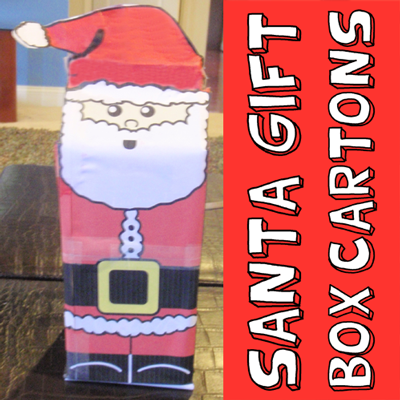 How to Make a Santa Claus Milk Carton Gift Box