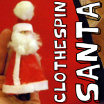 How to Make a Santa Claus Clothespin Ornament