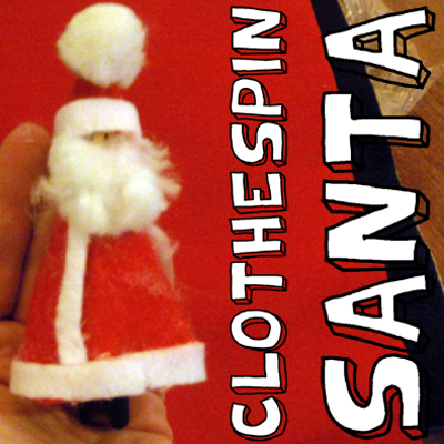 How to Make a Santa Claus Clothespin Ornament