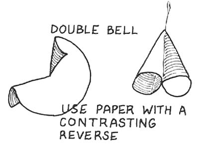 Paper Double Bells Ornaments
