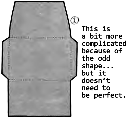 This envelope is a bit more complicated because of the odd shape