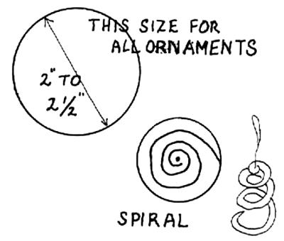 Paper Spiral Circles Ornaments