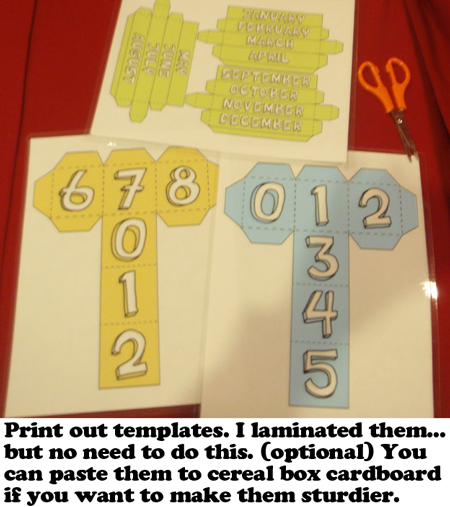 Print out templates.