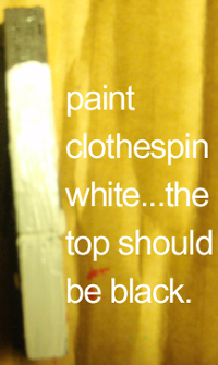 paint the top of the clothespin black