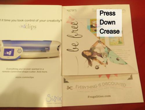 Press down crease.