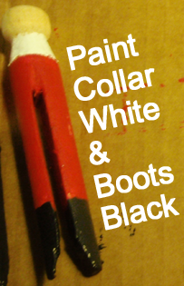 Paint collar white and boots black.